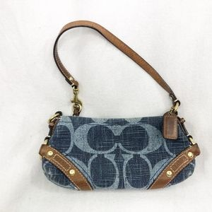 Coach Logo Denim Handbag shoulder bag RARE
